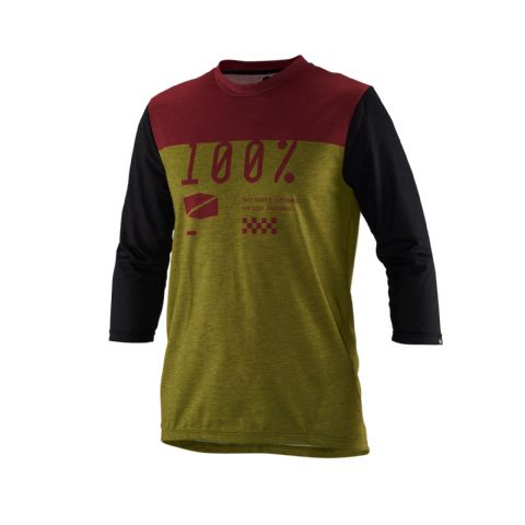 100% Airmatic ¾ Sleeve Jersey Olive
